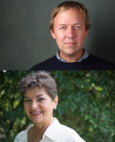 Christina Figueres og Tom Rivett-carnac